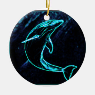 Dolphin (Light Dolphin) Ceramic Ornament