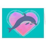Dolphin Love card