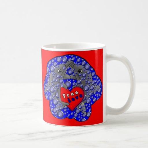 Dolphin Love Classic White Coffee Mug