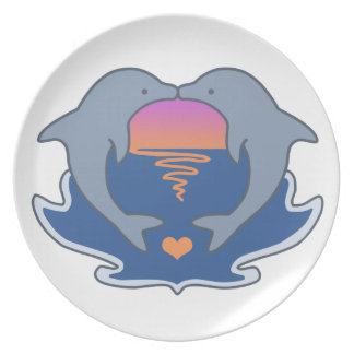 Dolphin Love Plate
