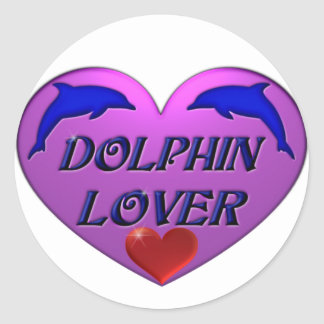 Dolphin Lover Classic Round Sticker