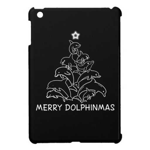 Dolphin Lover Gift| Dolphin Merry Christmas Tree Case For The iPad Mini
