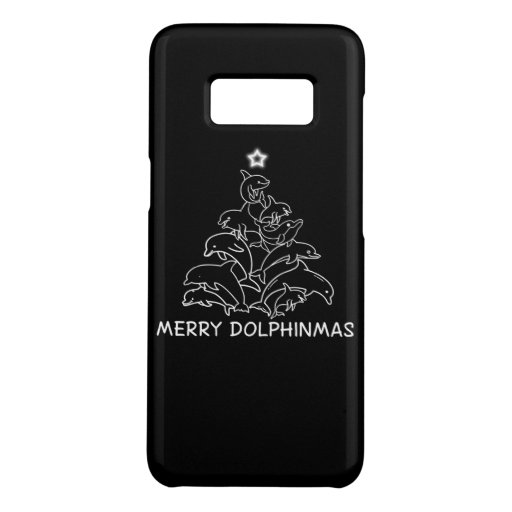 Dolphin Lover Gift| Dolphin Merry Christmas Tree Case-Mate Samsung Galaxy S8 Case