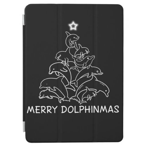Dolphin Lover Gift| Dolphin Merry Christmas Tree iPad Air Cover