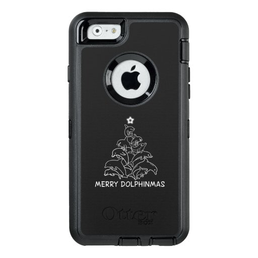 Dolphin Lover Gift| Dolphin Merry Christmas Tree OtterBox Defender iPhone Case
