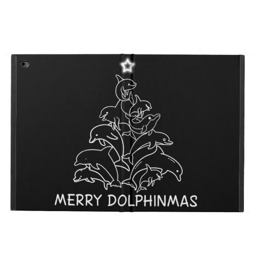Dolphin Lover Gift| Dolphin Merry Christmas Tree Powis iPad Air 2 Case