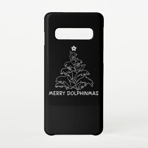 Dolphin Lover Gift| Dolphin Merry Christmas Tree Samsung Galaxy S10 Case