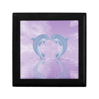 DOLPHIN LOVER GIFT PURPLE BACKGROUNDS JEWELRY BOXES