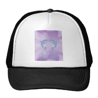 DOLPHIN LOVER GIFT PURPLE BACKGROUNDS HATS