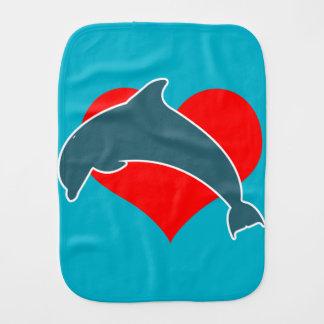 Dolphin Luv Burp Cloth