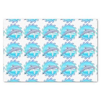 """Dolphin Maori Sun 10"""" X 15"""" Tissue Paper"""