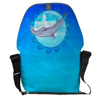 Dolphin Maori Sun Messenger Bag