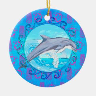 Dolphin Maori Sun Christmas Tree Ornaments