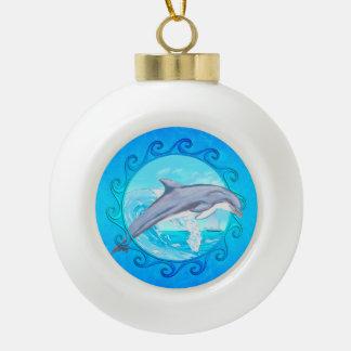 Dolphin Maori Sun Ornament