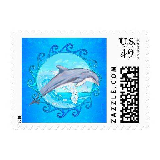 Dolphin Maori Sun Stamp