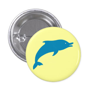 Dolphin Marine Mammals Fish Ocean Blue Animal Pinback Buttons