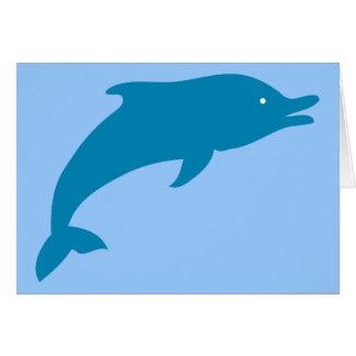 Dolphin Marine Mammals Fish Ocean Blue Animal Card