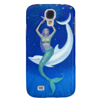 Dolphin Moon Mermaid Galaxy S4 Cover