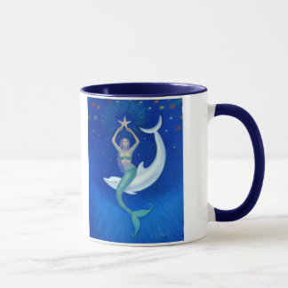 Dolphin Moon Mermaid Mug
