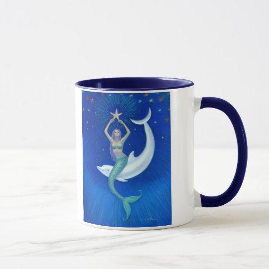 Dolphin Moon Mermaid Mug