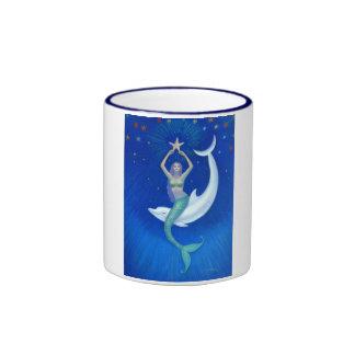 Dolphin Moon Mermaid Coffee Mugs
