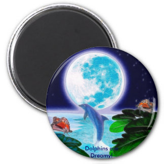 DOLPHIN MOON Paradise Art Series Refrigerator Magnet