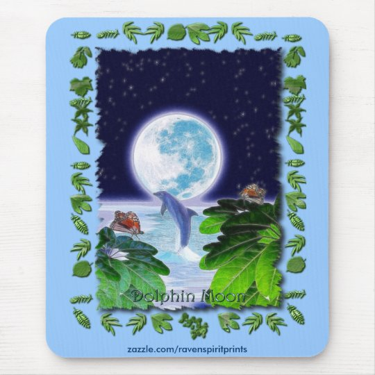 DOLPHIN MOON Paradise Art Series Mouse Pad
