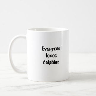 Dolphin Mother and Baby Classic White Coffee Mug