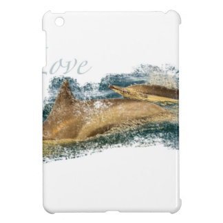 Dolphin Mother and Her Calf iPad Mini Cover