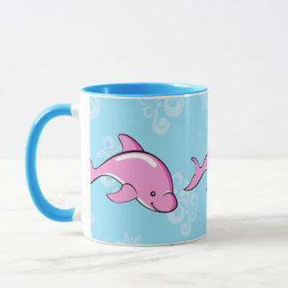 Dolphin mug blue