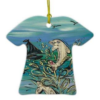 Dolphin Music Ornament ornament