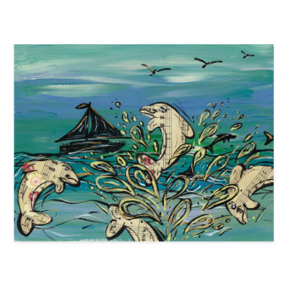 Dolphin Music postcards