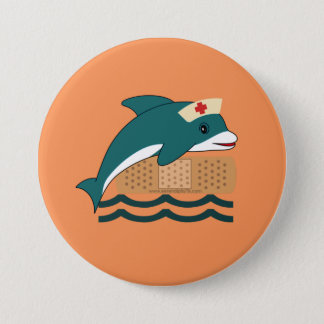 Dolphin Nurse Button