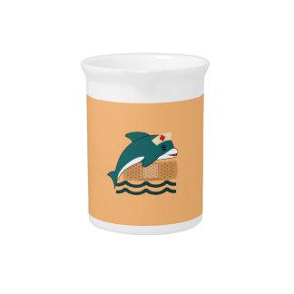Dolphin Nurse Drink Pitcher