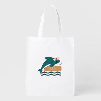 Dolphin Nurse Reusable Grocery Bag