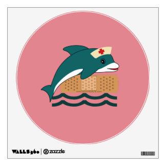 Dolphin Nurse Wall Decal