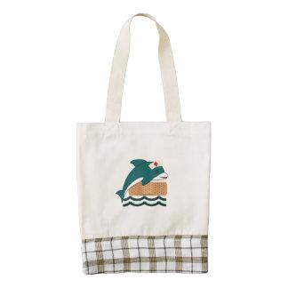 Dolphin Nurse Zazzle HEART Tote Bag