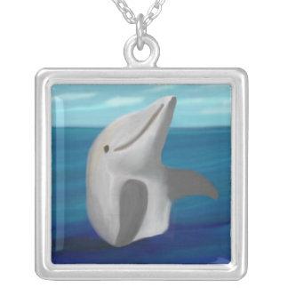 Dolphin Ocean Silver Necklace