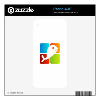 Dolphin on colorful boxes skin for the iPhone 4S