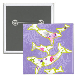 Dolphin on plain violet background buttons