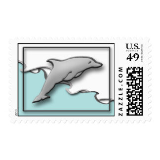 Dolphin on the Water Postage Stamp