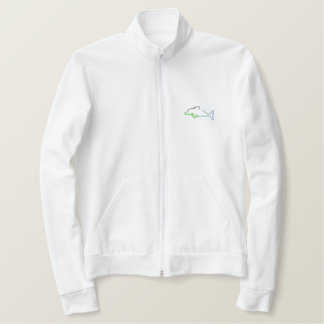 Dolphin Outline Embroidered Jacket