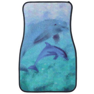 Dolphin Painting Car Mats