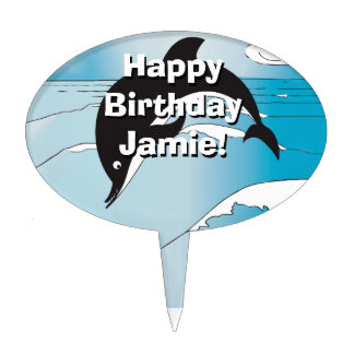 Dolphin Party Gifts Cake Topper