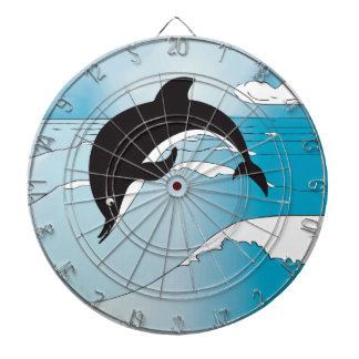 Dolphin Party Gifts Dartboard With Darts