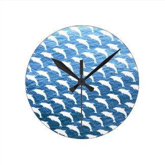 Dolphin Pattern Round Clock