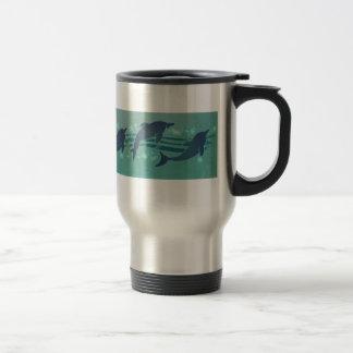 Dolphin Pattern Travel Mug