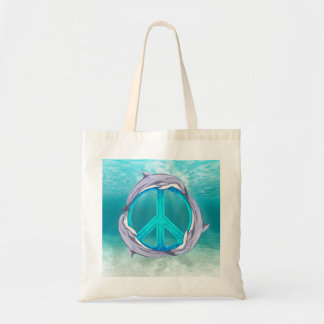 Dolphin Peace Tote Bags