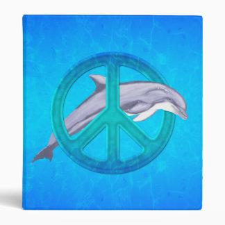 Dolphin Peace Vinyl Binder