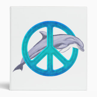 Dolphin Peace 3 Ring Binders